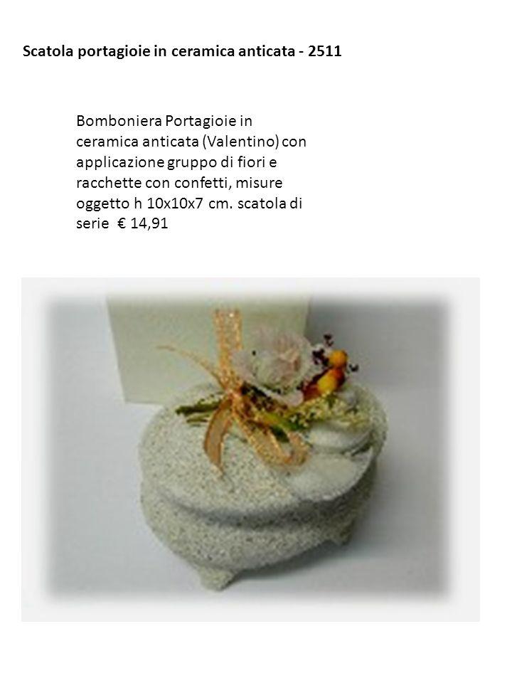 Scatola portagioie in ceramica anticata - 2511