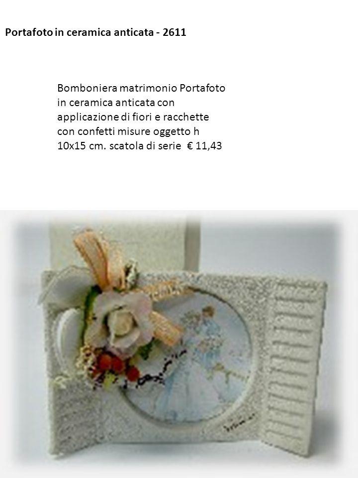 Portafoto in ceramica anticata - 2611