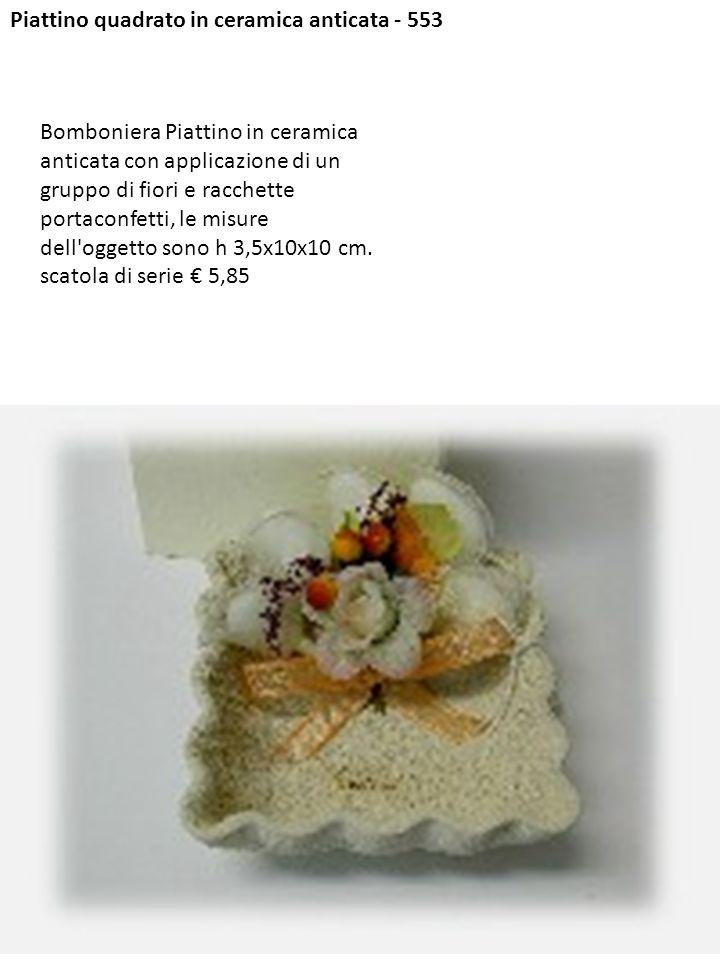 Piattino quadrato in ceramica anticata - 553