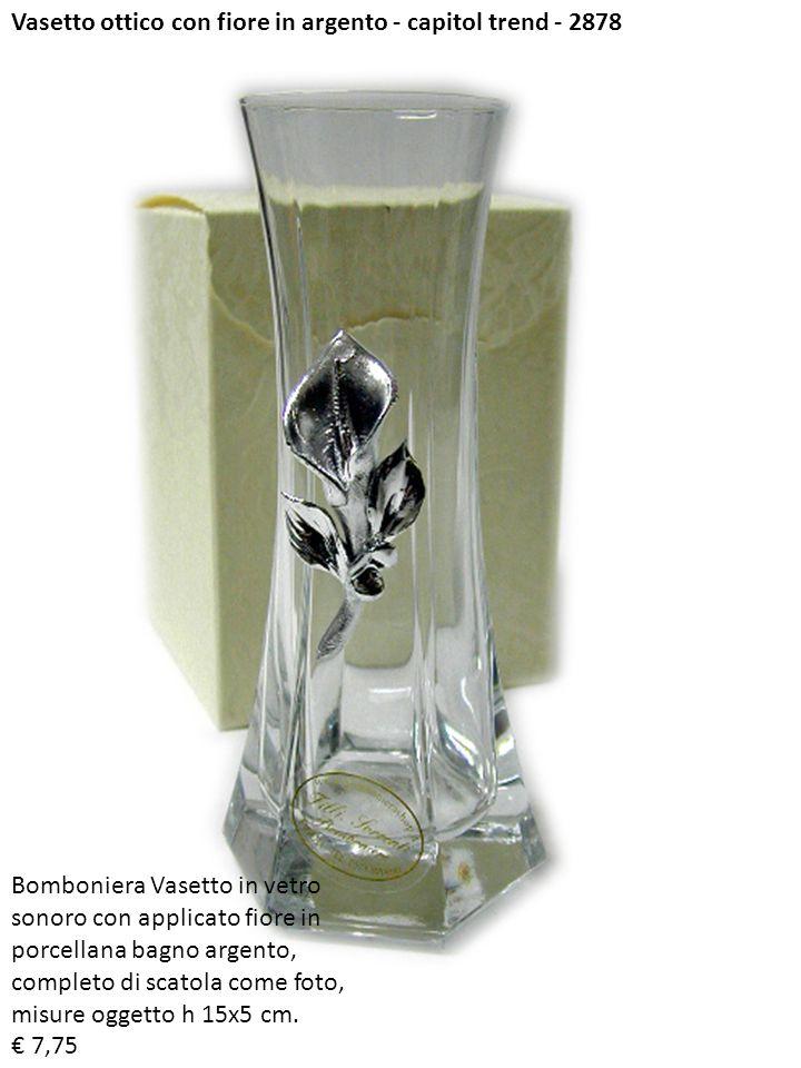Vasetto ottico con fiore in argento - capitol trend - 2878