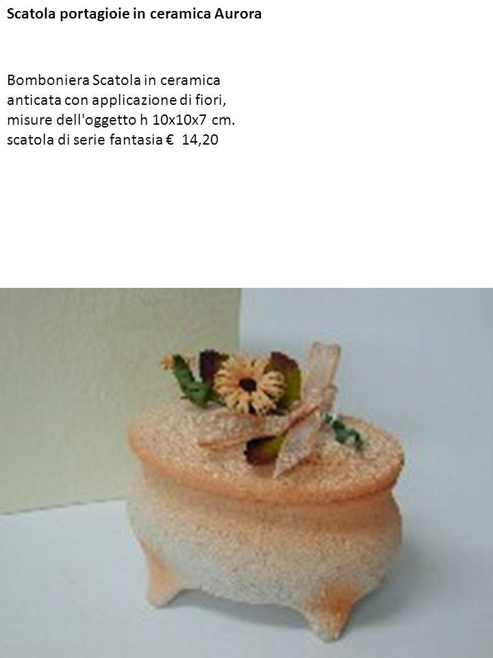 Scatola portagioie in ceramica Aurora
