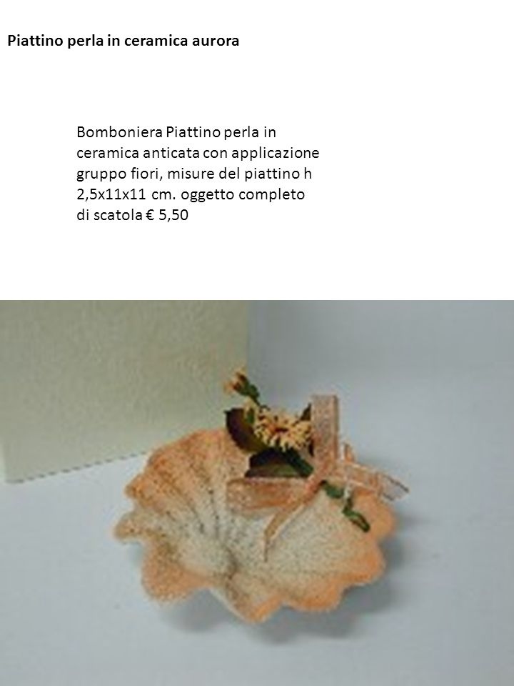 Piattino perla in ceramica aurora