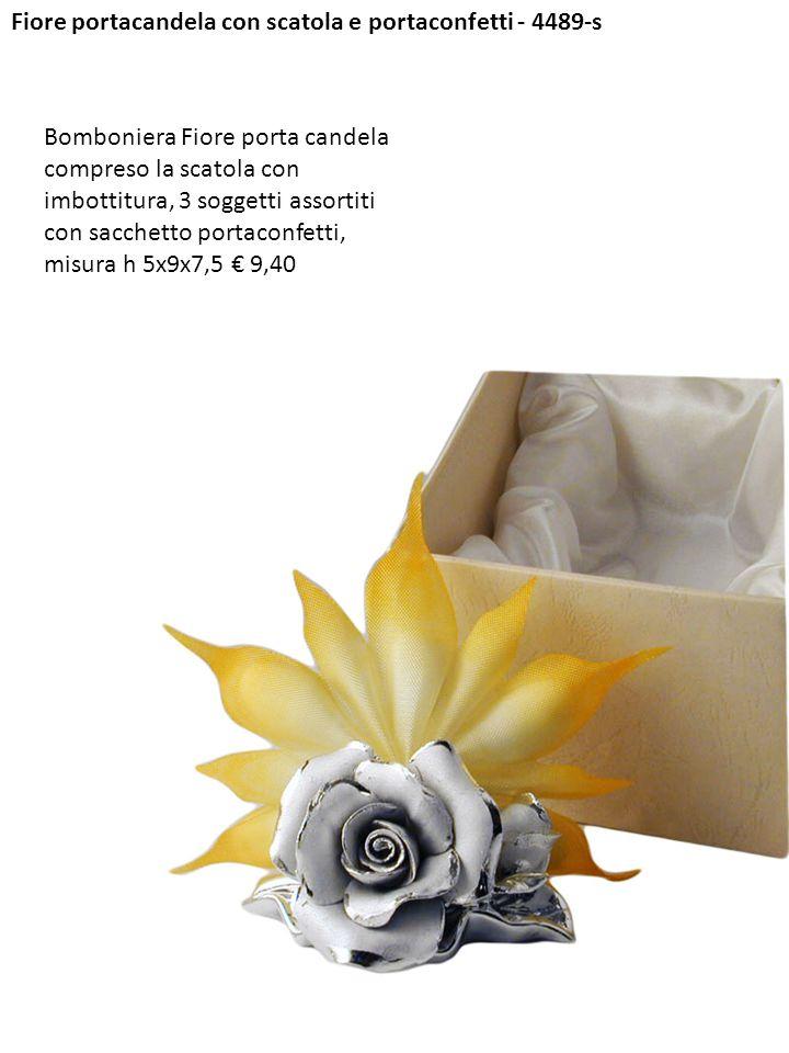 Fiore portacandela con scatola e portaconfetti - 4489-s
