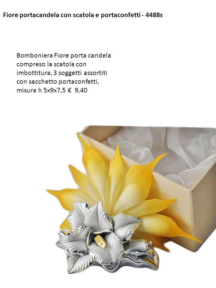 Fiore portacandela con scatola e portaconfetti - 4488s