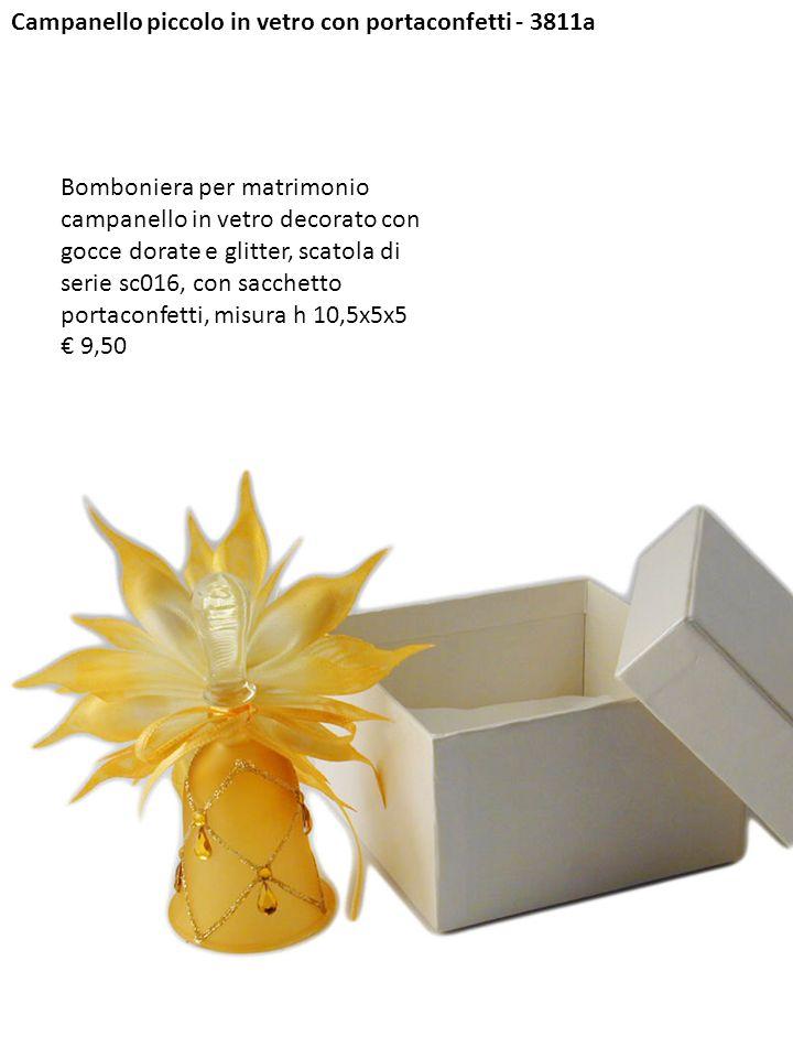 Campanello piccolo in vetro con portaconfetti - 3811a