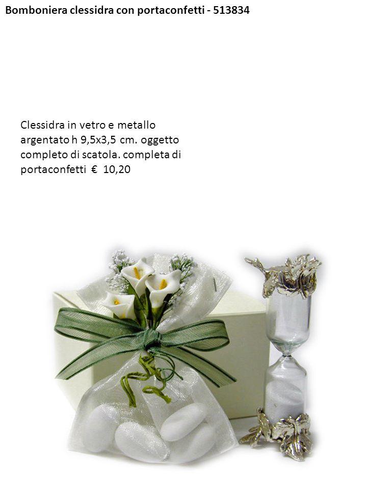 Bomboniera clessidra con portaconfetti - 513834