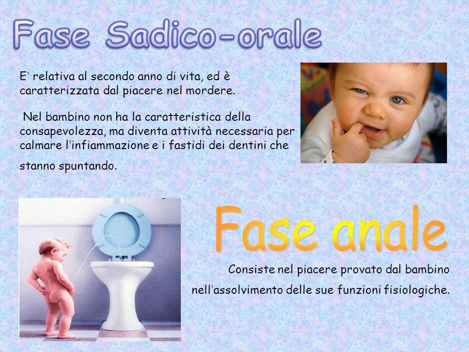Fase Sadico-orale Fase anale