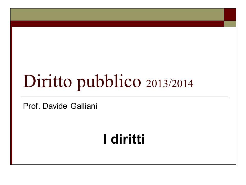 Prof. Davide Galliani I diritti