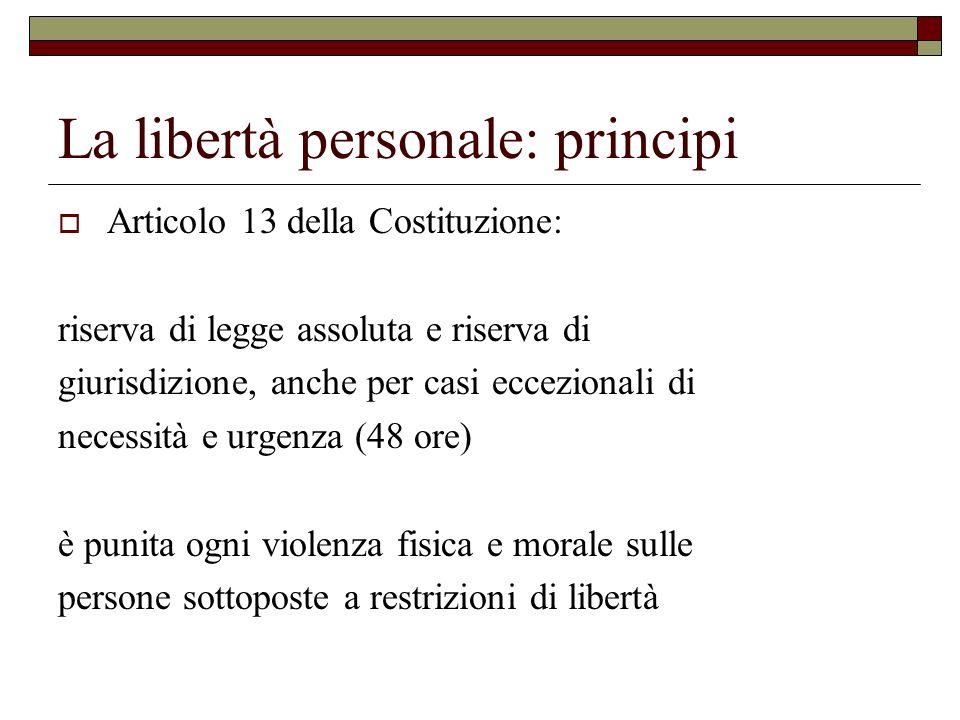 La libertà personale: principi