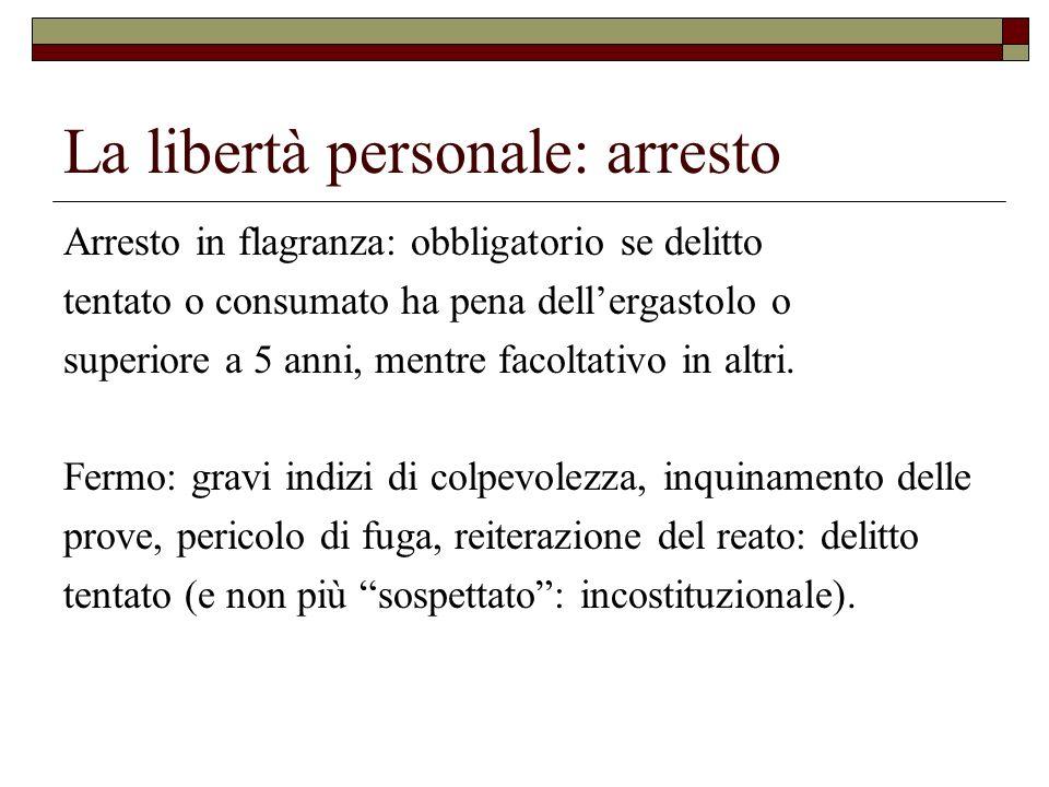 La libertà personale: arresto
