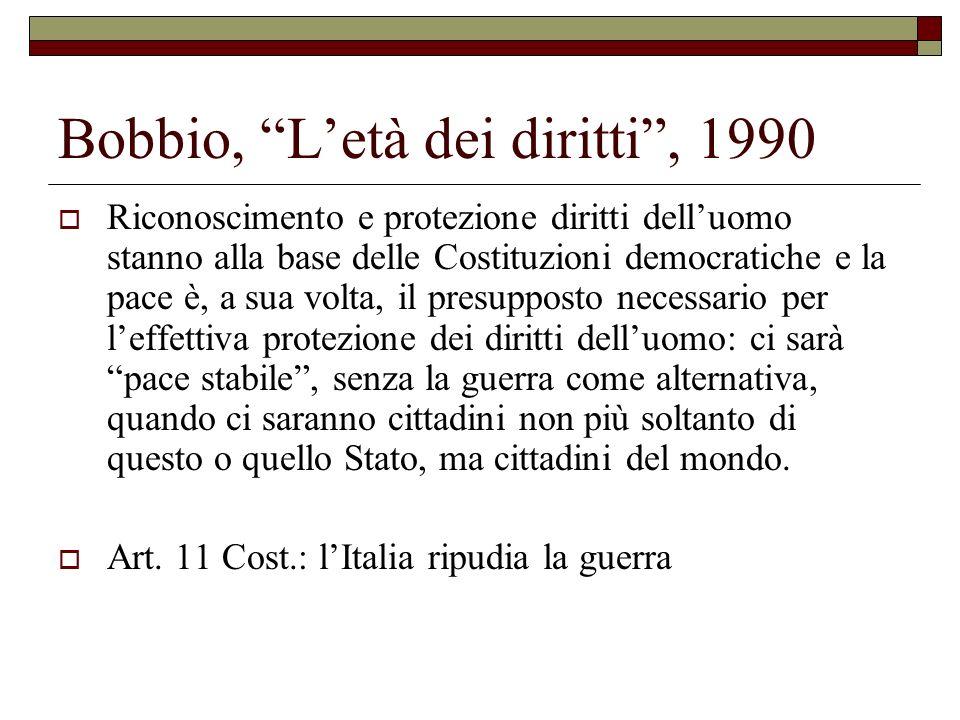 Bobbio, L'età dei diritti , 1990