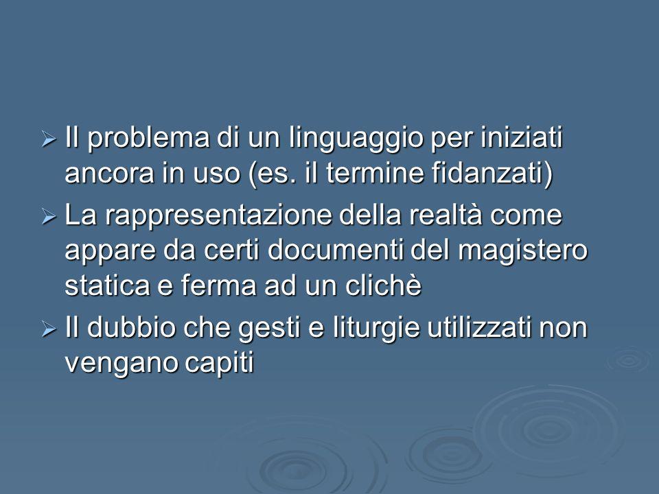 Il problema di un linguaggio per iniziati ancora in uso (es