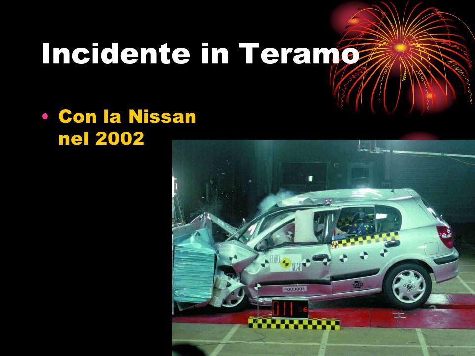 Incidente in Teramo Con la Nissan nel 2002