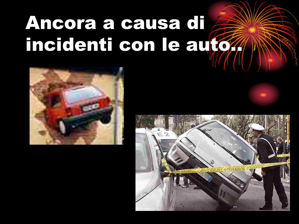Ancora a causa di incidenti con le auto..