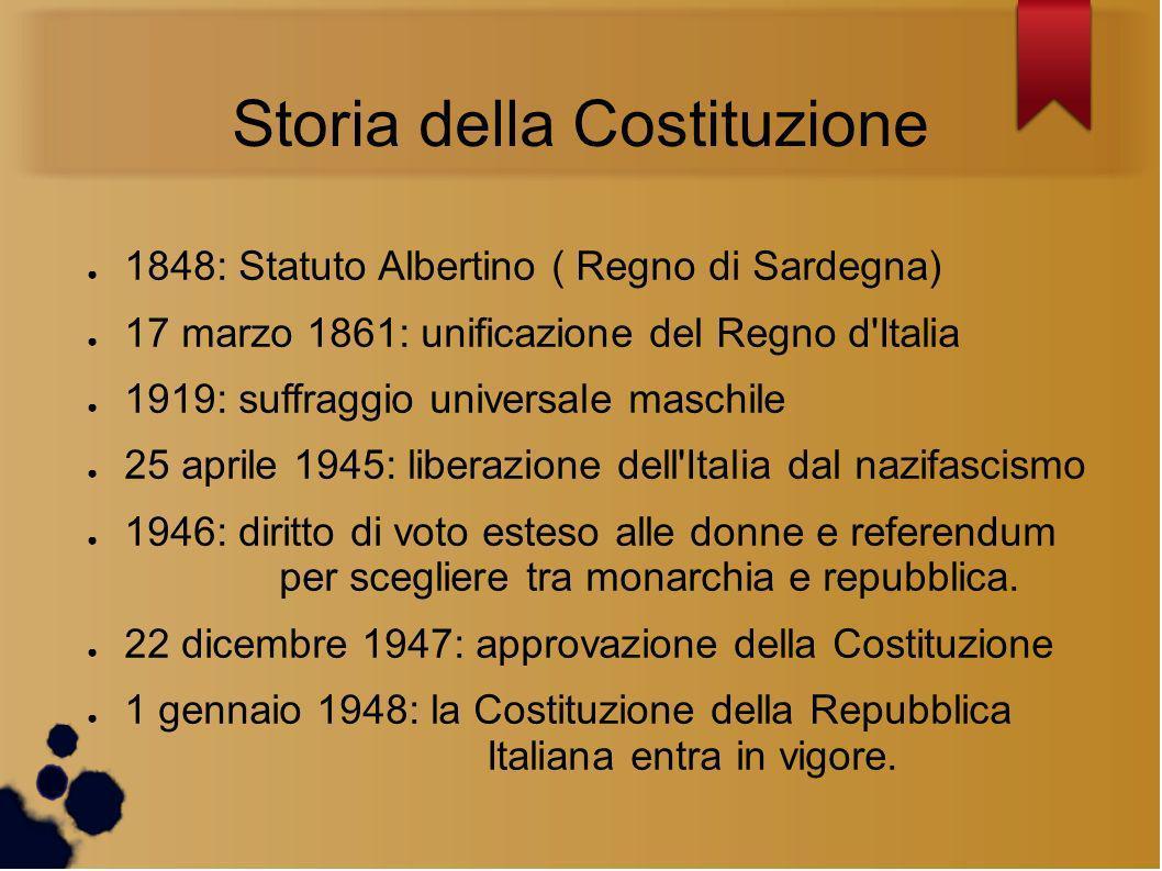 Storia della Costituzione