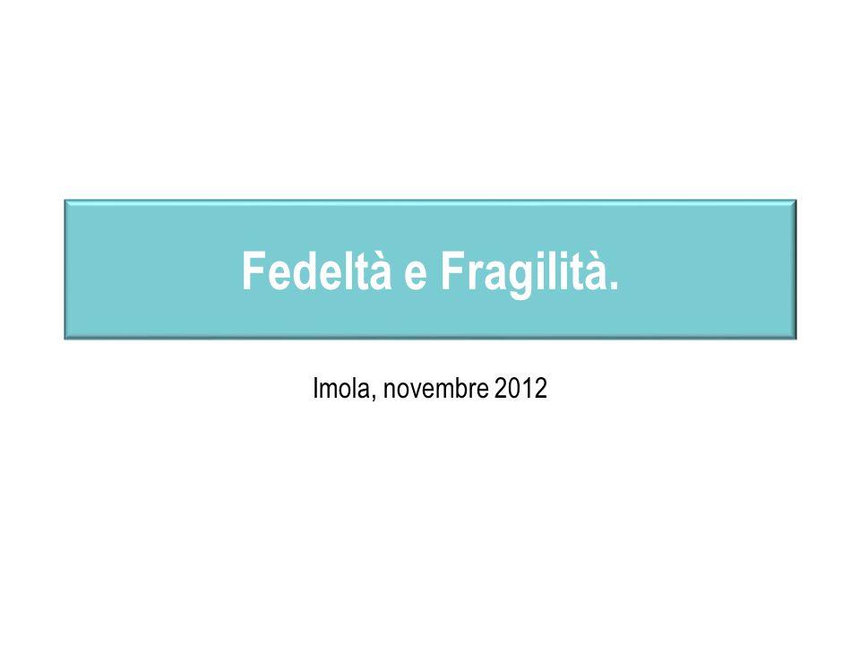 Fedeltà e Fragilità. Imola, novembre 2012