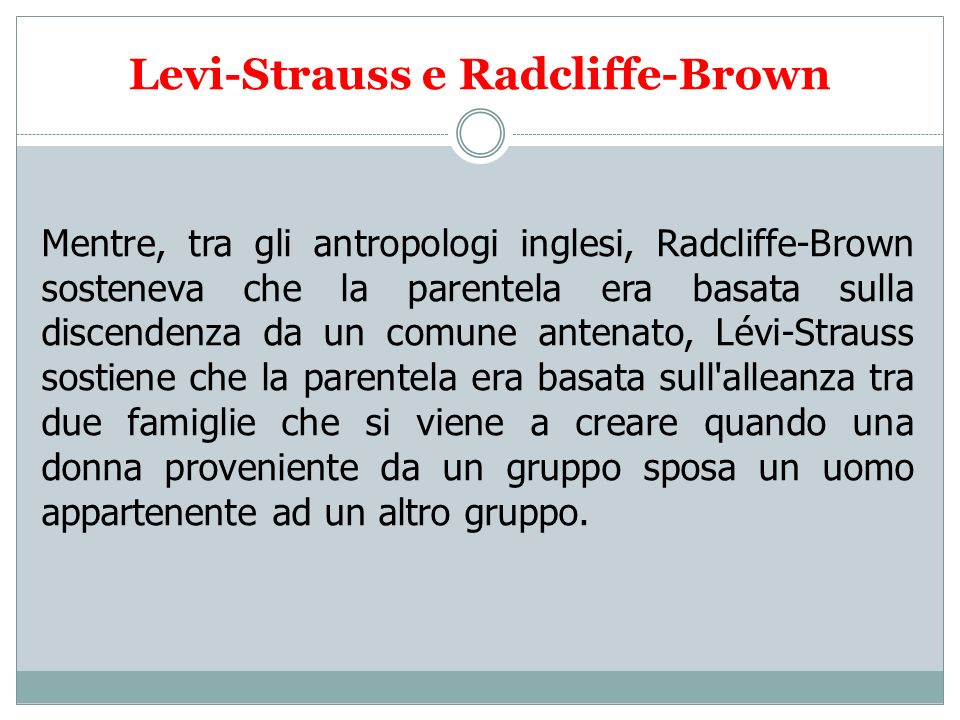 Levi-Strauss e Radcliffe-Brown