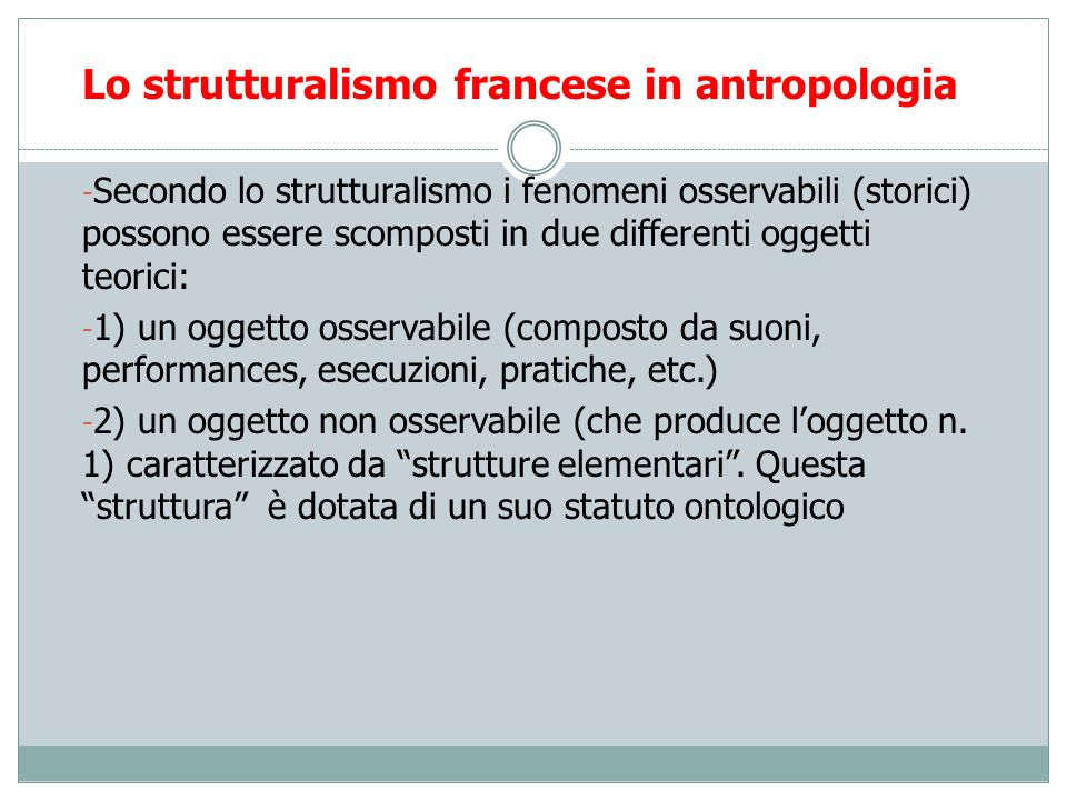 Lo strutturalismo francese in antropologia