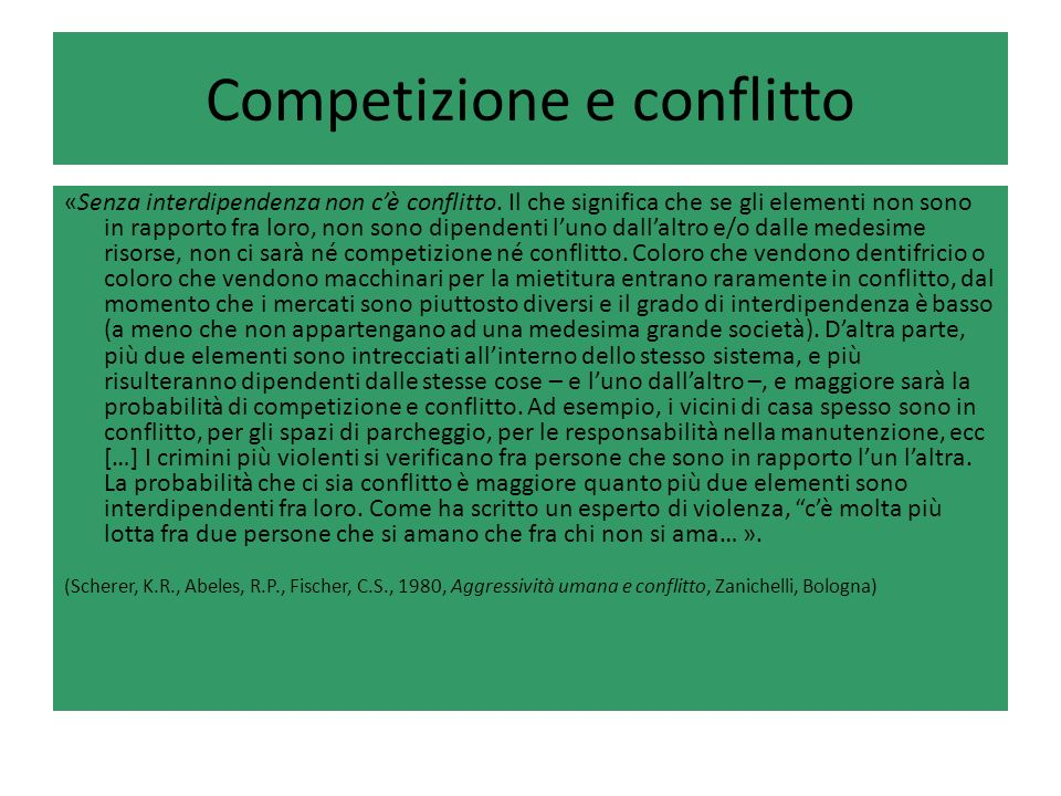 Competizione e conflitto