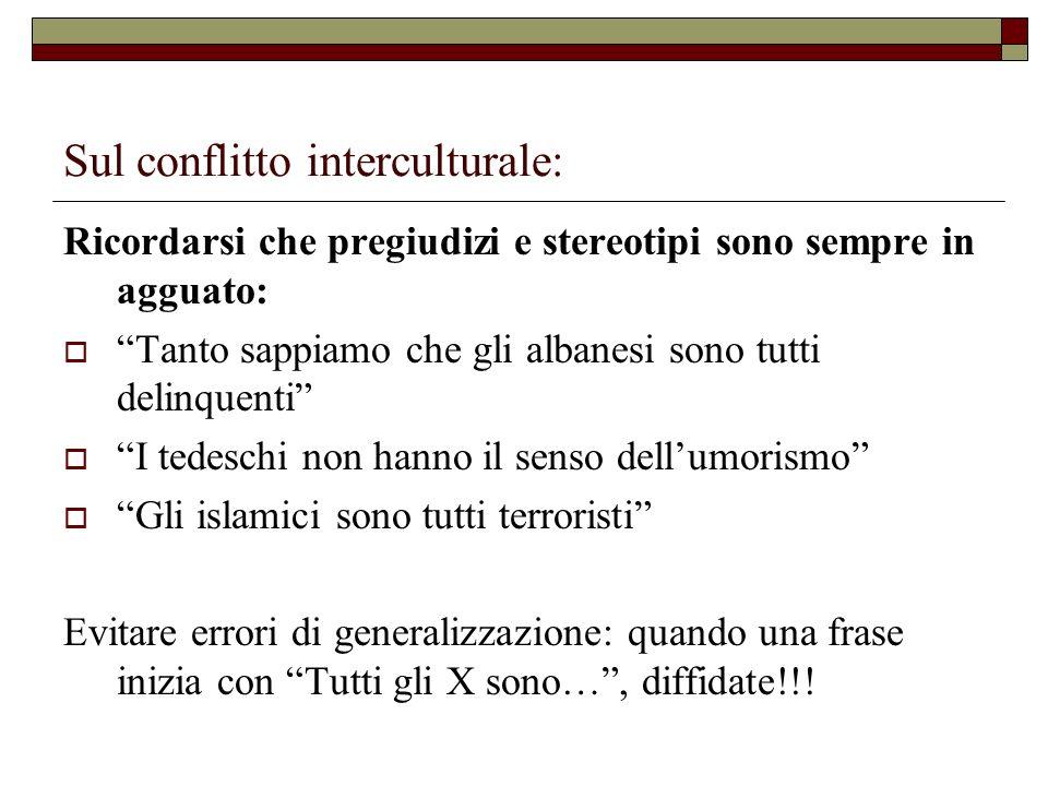 Sul conflitto interculturale: