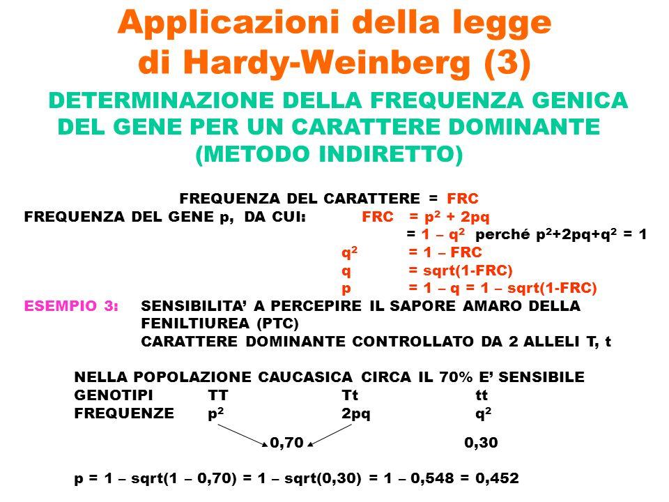 Applicazioni della legge di Hardy-Weinberg (3)