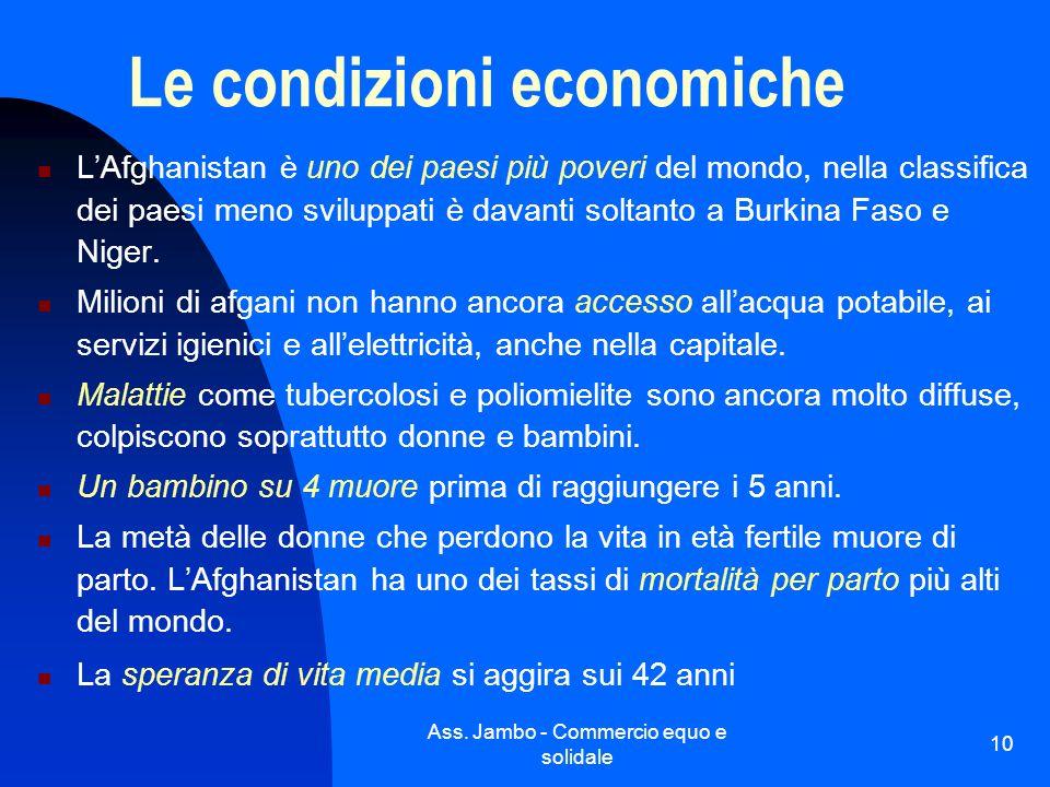 Le condizioni economiche