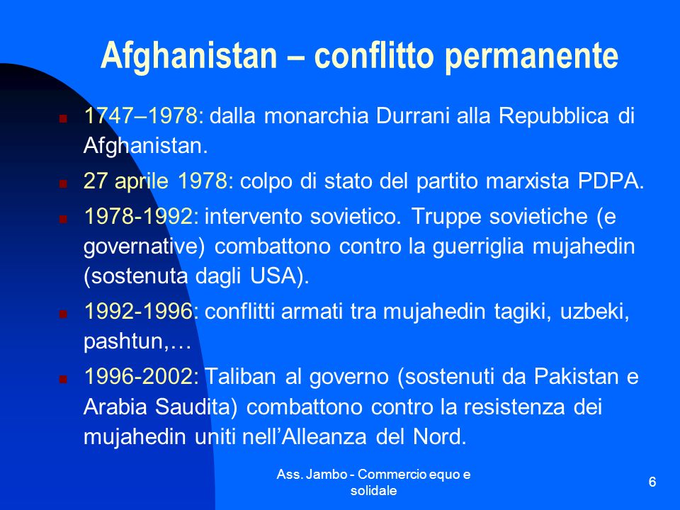Afghanistan – conflitto permanente