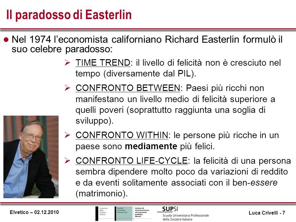Il paradosso di Easterlin