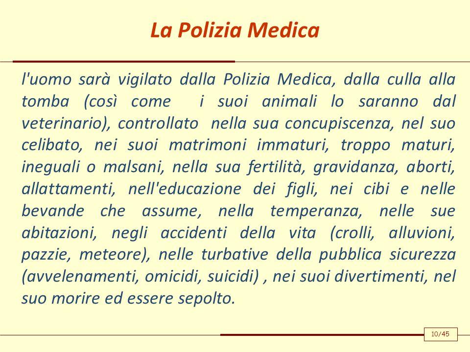 La Polizia Medica