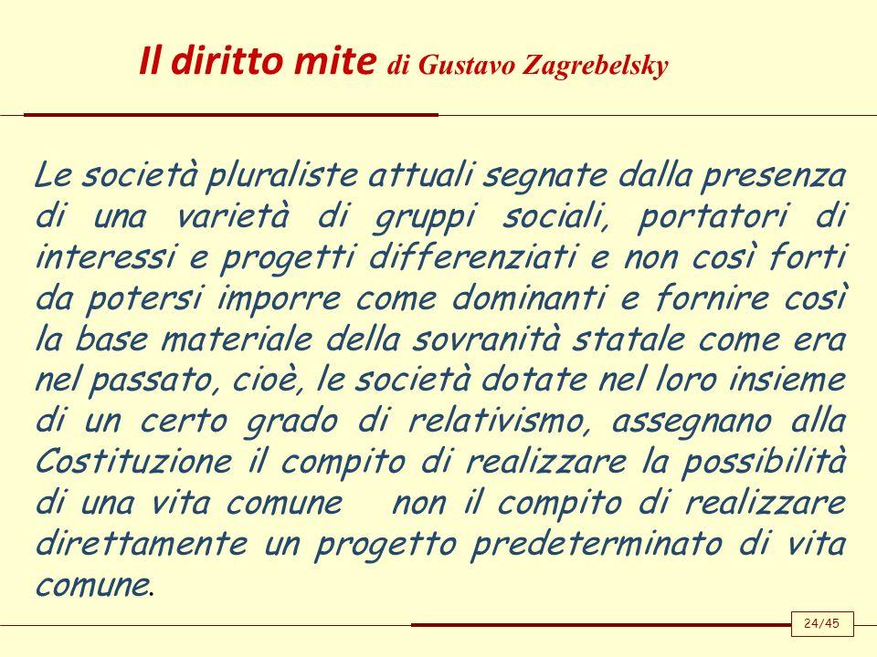 Il diritto mite di Gustavo Zagrebelsky