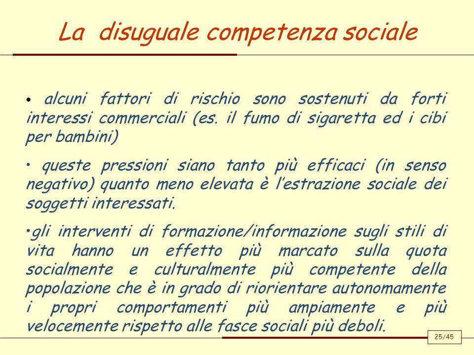 La disuguale competenza sociale