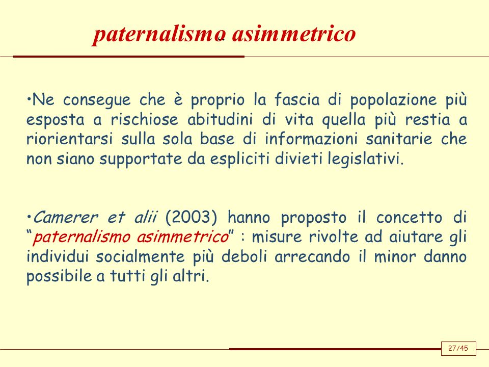 paternalismo asimmetrico