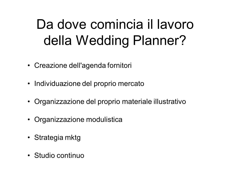 Da dove comincia il lavoro della Wedding Planner