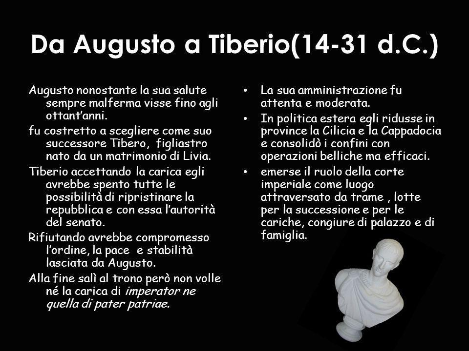 Da Augusto a Tiberio(14-31 d.C.)