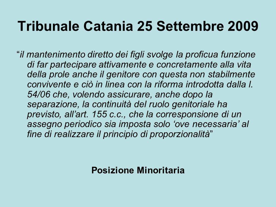 Tribunale Catania 25 Settembre 2009