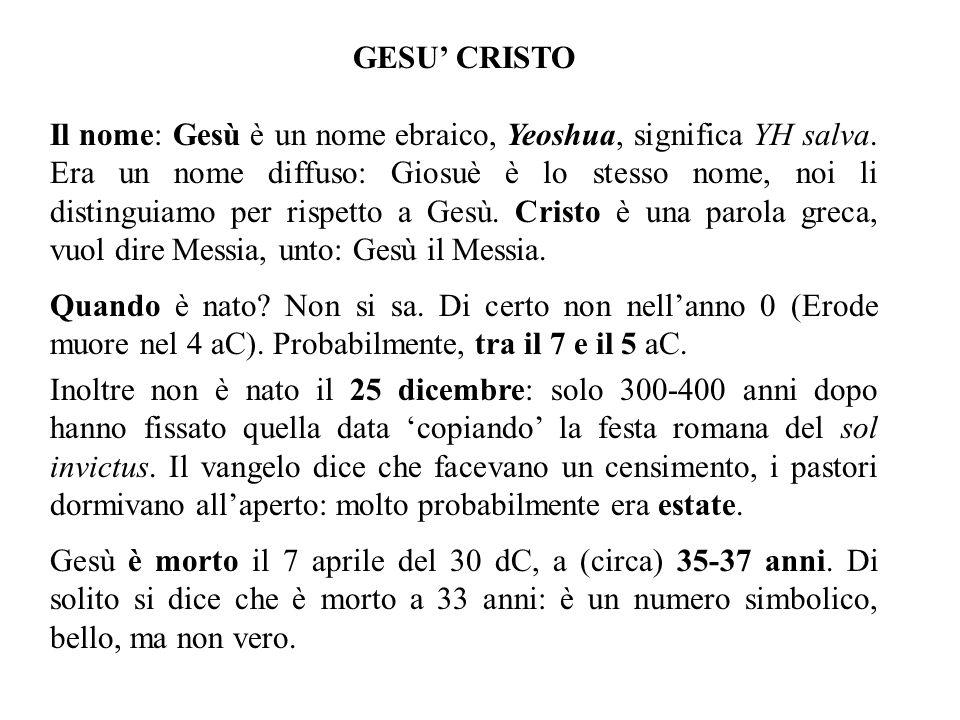 GESU' CRISTO