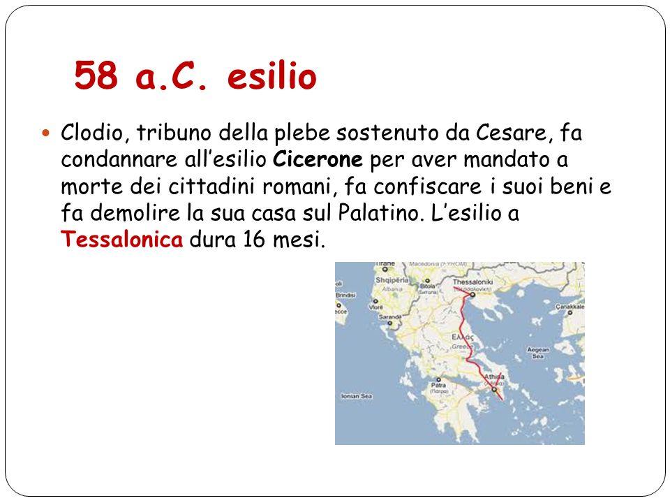 58 a.C. esilio
