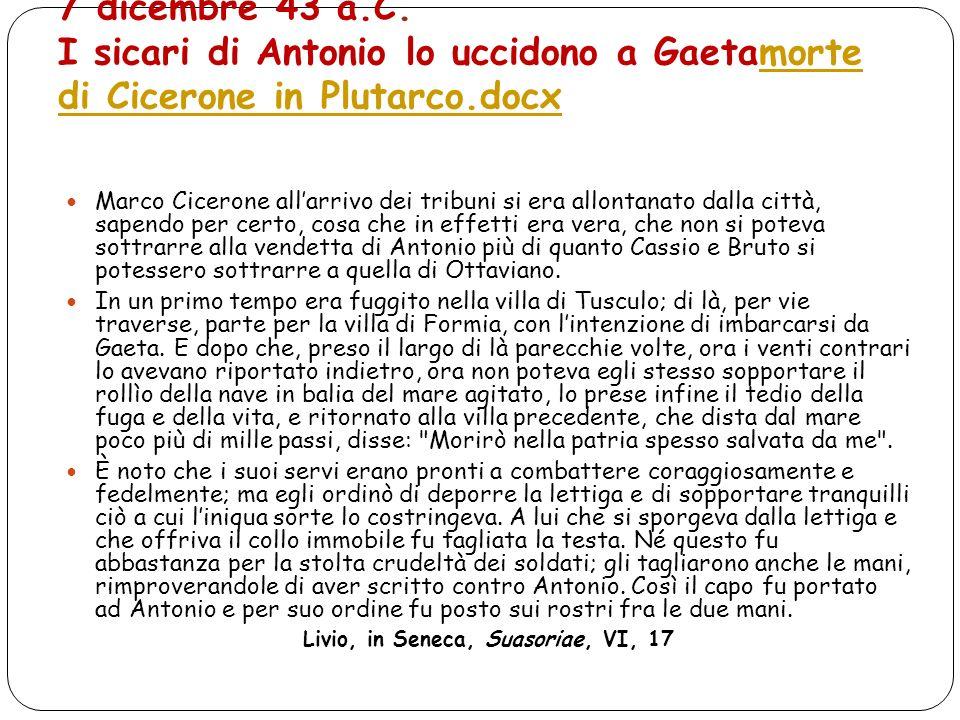 Livio, in Seneca, Suasoriae, VI, 17