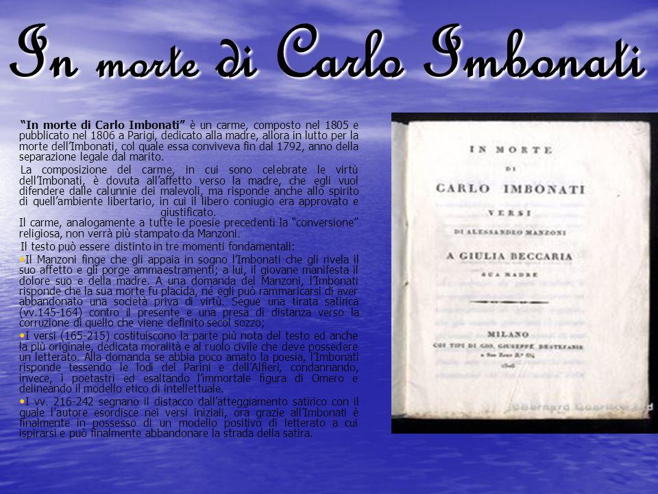In morte di Carlo Imbonati