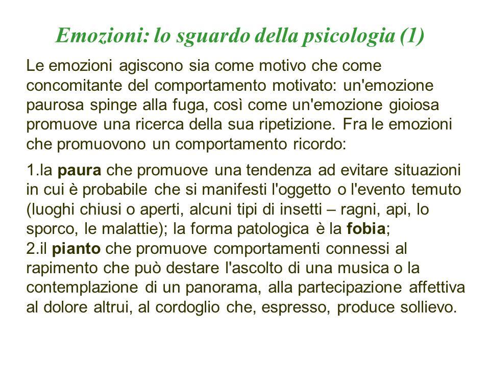 Emozioni: lo sguardo della psicologia (1)