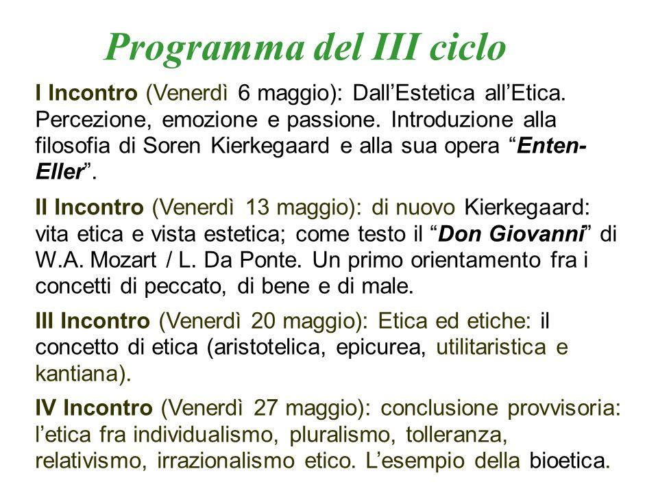 Programma del III ciclo