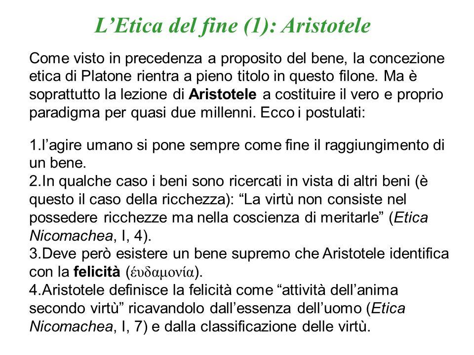 L'Etica del fine (1): Aristotele