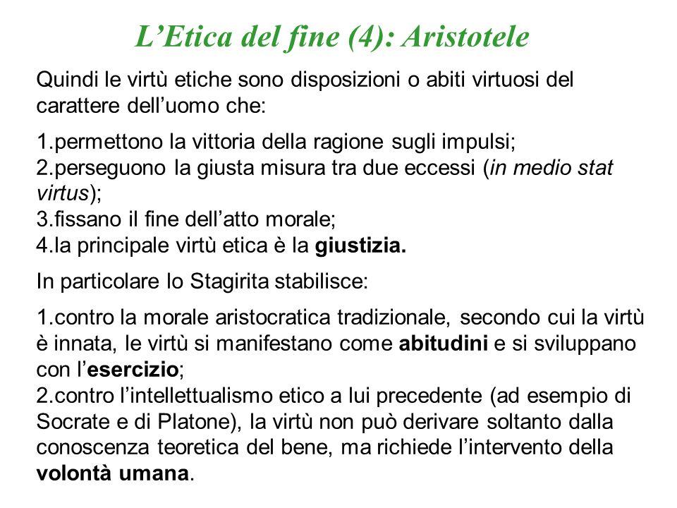 L'Etica del fine (4): Aristotele