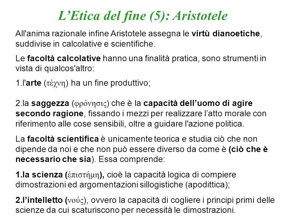 L'Etica del fine (5): Aristotele