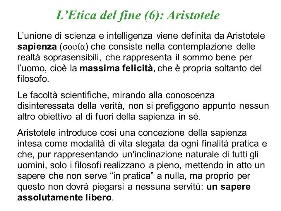 L'Etica del fine (6): Aristotele