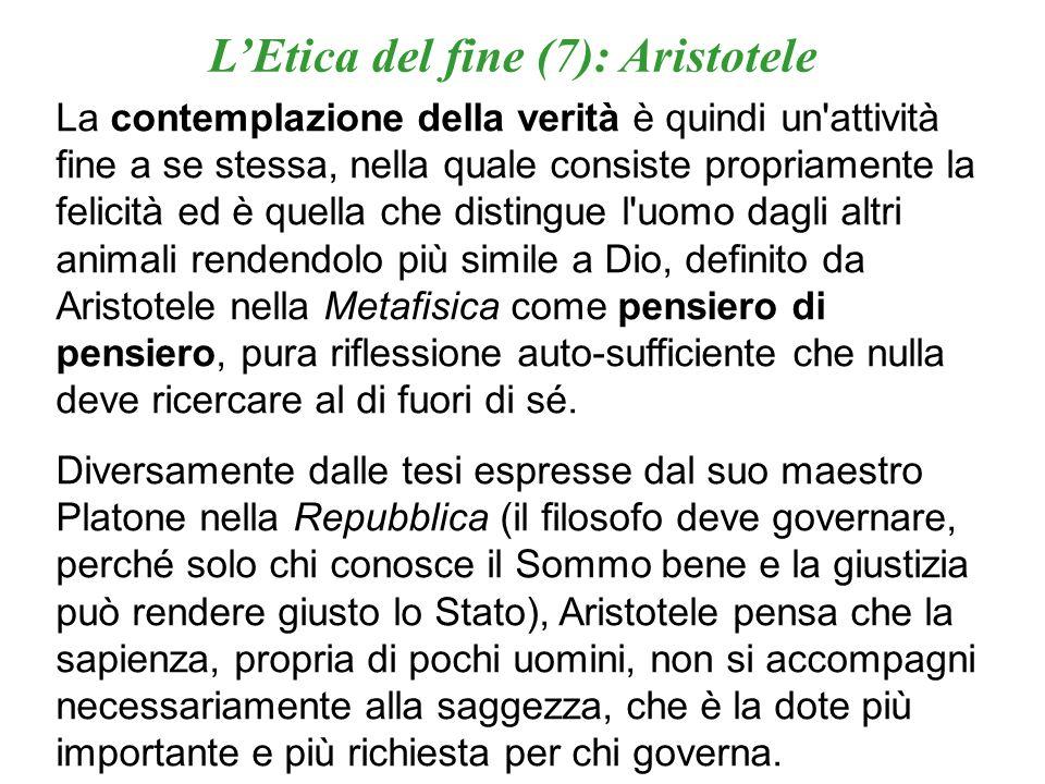 L'Etica del fine (7): Aristotele