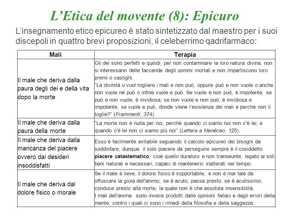 L'Etica del movente (8): Epicuro
