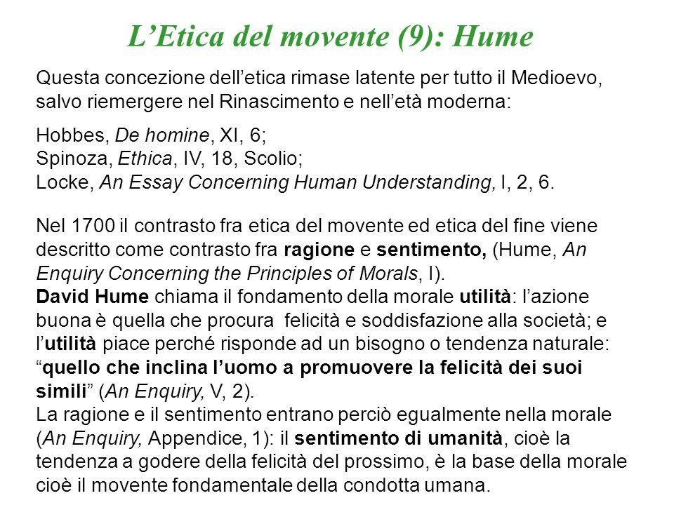 L'Etica del movente (9): Hume