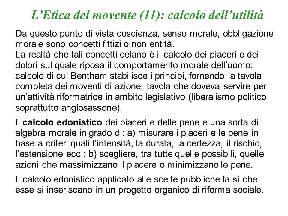 L'Etica del movente (11): calcolo dell'utilità