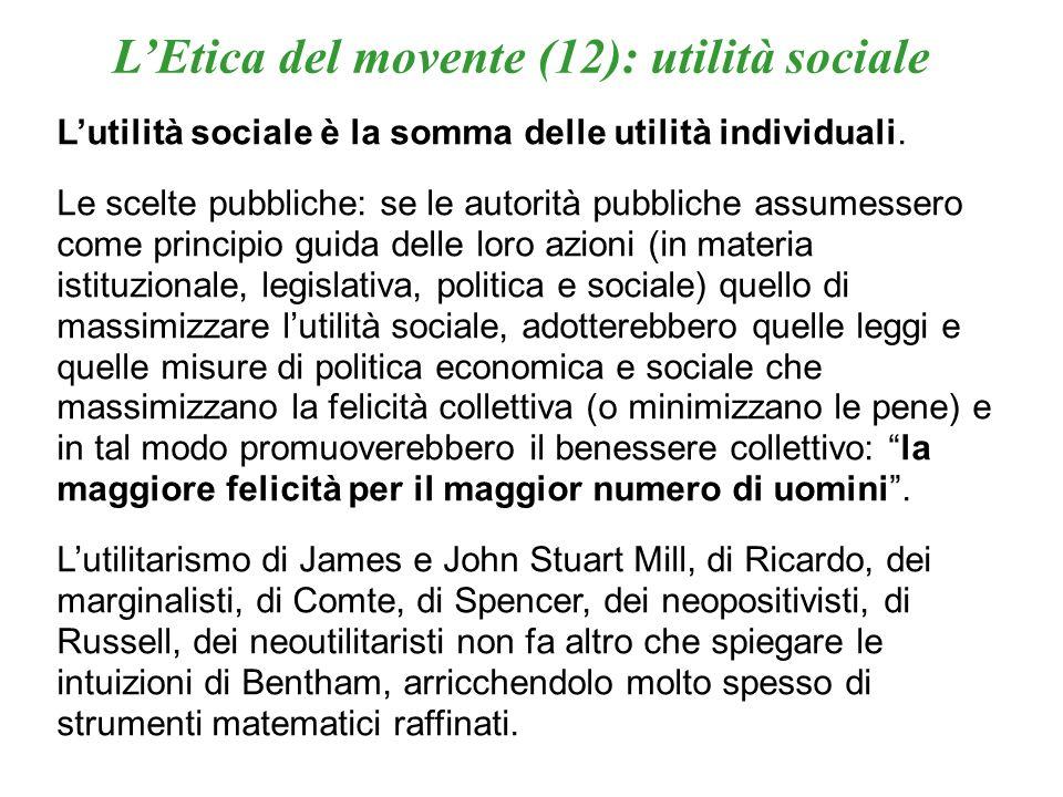 L'Etica del movente (12): utilità sociale